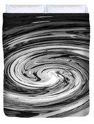 Liquefied Graffiti In Black And White Duvet Cover
