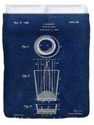Liquershot Glass Patent 1925 Blue Duvet Cover