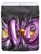 Liquid Amethyst Abstract Duvet Cover