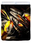 Liquid Chaos Abstract Duvet Cover