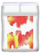 Liquid Fire Watercolor Abstract II Duvet Cover