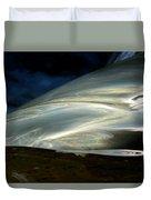 Liquid Silver Duvet Cover