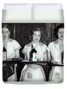 Liquor Is Served - Prohibition Ends 1933 Duvet Cover