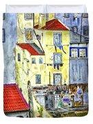 Lisbon Home Painting Duvet Cover