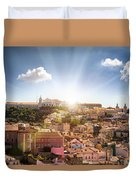 Lisbon Panoramic View To Afama Duvet Cover