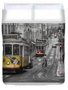 Lisbon Trams Duvet Cover