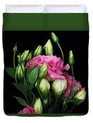 Lisianthus Flowers Duvet Cover