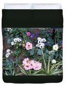 Lisianthus Medley Duvet Cover