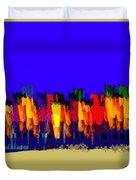 Lisse - Tulips Blue On Brown Duvet Cover