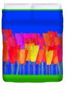 Lisse - Tulips Blue On Green Duvet Cover