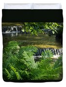 Listen To The Babbling Brook - Green Summer Zen Duvet Cover