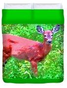 Listening Deer Duvet Cover