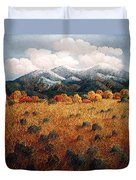 Listening To Mountains Duvet Cover