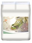 Lithobates Catesbeianus Or Rana Catesbeiana Duvet Cover