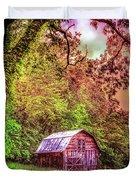Little Barn In The Smokies Duvet Cover