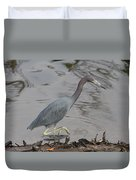 Little Blue Heron Walking Duvet Cover