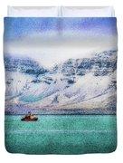 Little Boat In Reykjavik Bay Duvet Cover