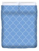Little Boy Blue Quatrefoil Duvet Cover