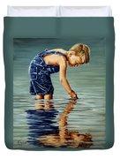 Little Boy Reflection Duvet Cover