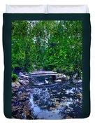Little Bridge - Japanese Garden Duvet Cover