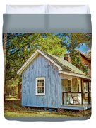 Little Cabin In The Country Pine Barrens Of New Jersey Duvet Cover
