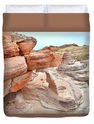 Little Castle Above Wash 3 In Valley Of Fire Duvet Cover
