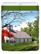Little Church At Puako Big Island Duvet Cover