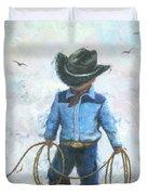 Little Cowboy Lasso Duvet Cover