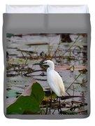 Little Egret 2 Duvet Cover
