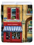 Little French Book Store Duvet Cover