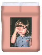 Little Girl Blue Duvet Cover by Tom Zukauskas