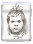 Little Girl Duvet Cover