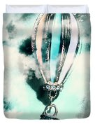 Little Hot Air Balloon Pendant And Clouds Duvet Cover