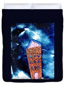 Little House In The Cosmos Duvet Cover