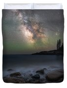Little Hunters Cove At Night Duvet Cover