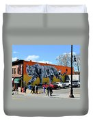 Little India In Jersey City-white Tiger Mural Duvet Cover
