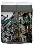 Little Italy In New York Duvet Cover