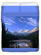 Little Lakes Valley Panorama Duvet Cover