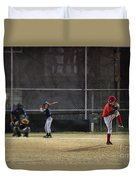 Little League Baseball Duvet Cover