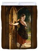 Little Nell Leaving The Church Duvet Cover