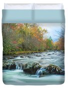 Little Pigeon River Great Smoky Mountains National Park In Fall Duvet Cover