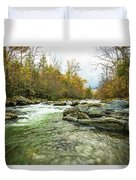 Little Pigeon River Greenbrier Area Of Smoky Mountains Duvet Cover
