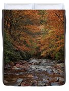 Little Pigeon River In Autumn Duvet Cover