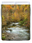 Little Pigeon River In Fall Smoky Mountains National Park Duvet Cover
