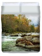 Little Pigeon River In The Greenbrier Section Of Smoky Mountains Duvet Cover