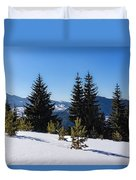 Little Pine Forest - Impressions Of Mountains Duvet Cover