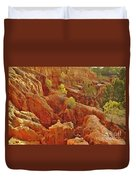 Little Pine Trees Growing On The Valley Cliffs Duvet Cover