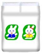 Little Rabbit Boy And Rabbit Girl Duvet Cover
