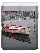 Little Red Boat Duvet Cover
