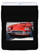 Little Red Corvette Duvet Cover